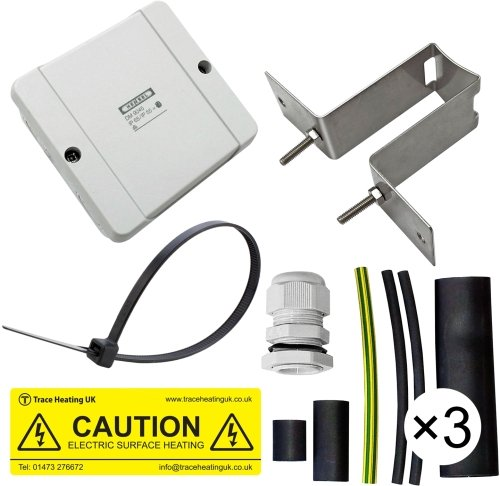 Tee connection kit c/w 3 terms JB, bracket & Warning Label
