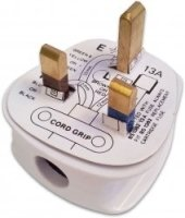 13 Amp Fused White Plug Top